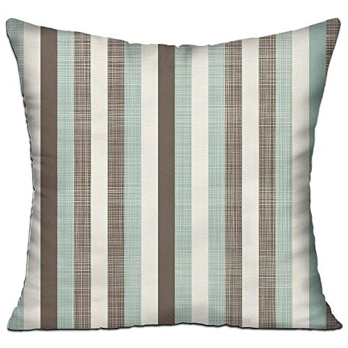 ZMYGH Retro Classical Vertical Stripes Texture Image Old Fashioned Display Decorative Brown Almond Green Cream Sofa Decor Throw Pillow Cover 18