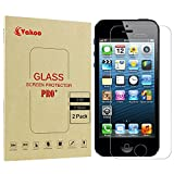 Vakoo iPhone SE Schutzfolie, [3D Touch] Panzerglas iPhone 5S Folie Panzerfolie Glasfolie für Apple iPhone 5/5S/SE/5C Displayschutzfolie (2-Stück)