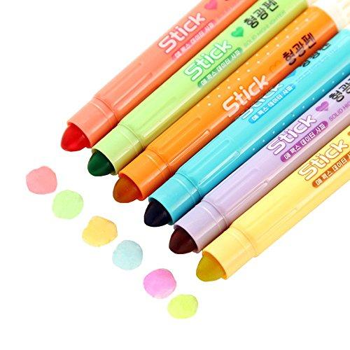 mylifeunit-gel-resaltador-set-solid-gel-rotuladores-fluorescentes-colores-variados-pack-de-6