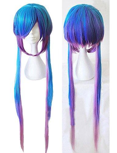 Kostüm Blau Asuna - XZL Perücken der Weise angelaicos Frauen Vocaloid 3Aoki lapis Verlauf Blau Melange lang sexy lady Halloween Perücken Partei Cospaly Kostüm