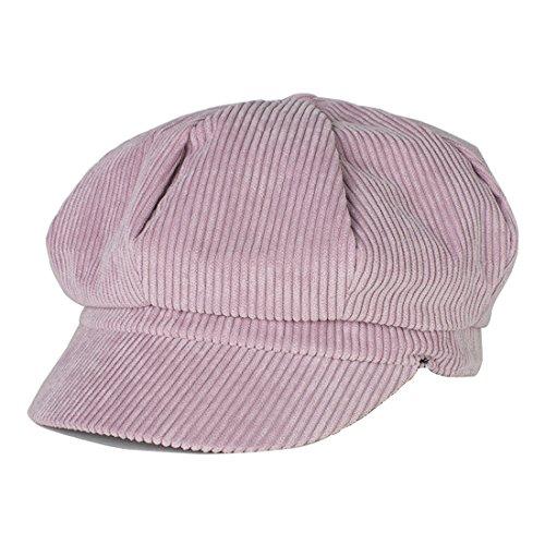 Kuyou Winter Gatsby Newsboy Barett Cap Schirmmütze Kappe Hut (Hot Pink) (Cabbie Frauen Für Cap)