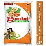 Gemini Groundnut Oil Pouch, 1L