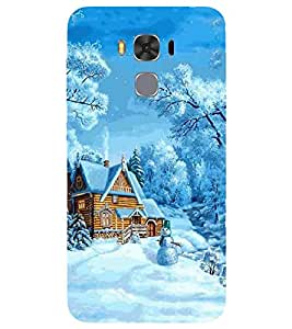 For Asus Zenfone 3 Max ZC520TL nice home ( nice home, winter, ice, tree, christmas, cartoon, ice cartoon ) Printed Designer Back Case Cover By FashionCops