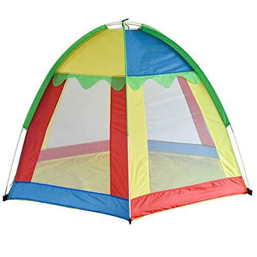Tenda per bambini gioco da casa giocattolo trasportabile esagonale arcobaleno
