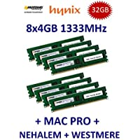 32 GB Dual Channel Kit Mustang/Hynix 8 x 4 GB DDR3 1333 mhz PC3-10600E 240 (Ecc Unbuffered Dimm A 240 Pin)