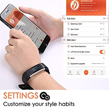 Fitness Tracker Aneken Smart Bracelet With Heart Rate Monitor Activity Tracker Bluetooth Pedometer With Sleep Monitor Smartwatch For Ios Android Iphone Samsung Smartphones 5