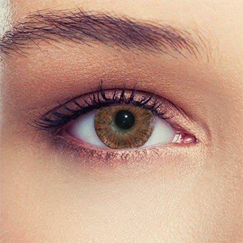 Braune farbige Kontaktlinsen ohne Stärke Design: Soft Honey