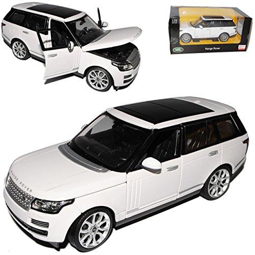 Rastar Land Rover Range Rover LG Weiss 4. Generation Ab 2012 1/24 Modell Auto mit individiuellem Wunschkennzeichen