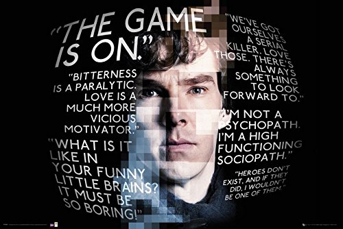 Sherlock The Game Is On Quotes Poster-Poster grande dimensioni (91,5cm X 61cm)
