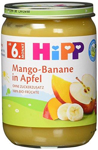 Mango Vitamine (HiPP Früchte Mango-Banane in Apfel, 6er Pack (6 x 190 g))