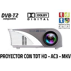 Unicview SG100 - Proyector (TDT, USB, HDMI, VGA, AC3, 1.200 lúmenes)