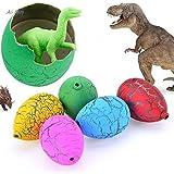 SN Toy Zone Super Quality Growing Dinosaur Eggs/Magic Eggs, Medium (Multicolour,Building Set_2)- Pack of 5+2