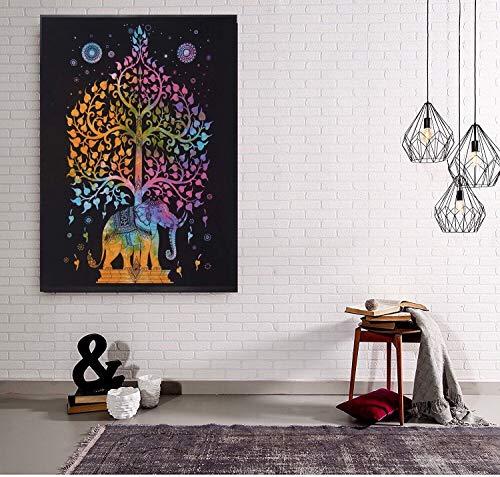 Cartel de elefante hecho a mano con decoración de dormitorio indio, cartel...