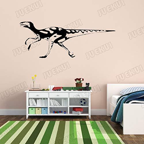 Stickers muraux Amovibles Dinosaure à Longue Queue pour la Chambre des Enfants Chambre d'enfant garçons Chambre Vinyle Art Papier Peint décoration murales Rose 146x57cm