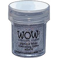 WOW Diamond White-Regular, Polvo de Repujado,, 5x 3x 3cm