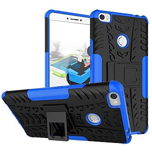 Parallel Universe Cover for Xiaomi Mi Max Dual Layer Rugged and Tough Armor Hard Defender Case with kickstand - Blue