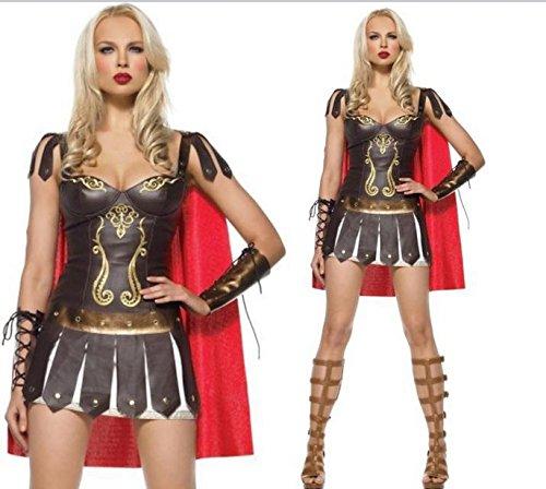 Gorgeous Halloween-Kostüm- Roman Warrior Warrior Klassischen Erwachsene römische Gladiator (Gladiator Kostüme Krieger)