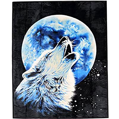 Faux Fur Throws / Blanket 3d Animal Mink For Sofa Bed Double King Size Soft Warm Large Wolf Tiger Pug Penguin Cheetah Horse Leopard Bear Prints - inexpensive UK light store.