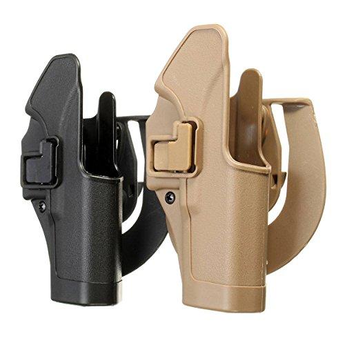 CAMTOA Tactical Concealment Tiefziehholster Pistolenholster, rechts,für Glock 17 Braun -