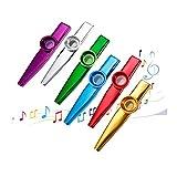 6 Pezzi Kazoos Metallo in Lega Kazoos Strumenti Musicali, Buon Compagno per Chitarra, Ukulele, Violino, Tastiera di Pianoforte, Grande Dono per Amanti della Musica
