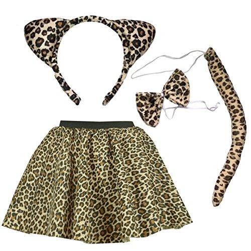 Girls, Child Leopard Skirt Costu...