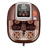 ZFF Fußsprudelbad Becken Elektrisch Spa Fuß Wanne Massagegerät Automatisch Elektrisch Intelligent Rolle Massage Bad Völlig Heizung