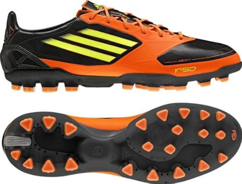 adidas Botas de fútbol para F50 ADIZERO TRX AG (Black/Advertencia
