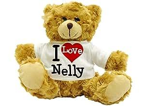 I Love Nelly–Cadeau ours en peluche Nom: environ 22cm (haute)