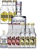 The Botanist Gin 0,7 Liter + The Duke Gin Miniatur 5 cl + 3 x Thomas Henry Tonic 0,2 Liter + 3 x Thomas Henry Spicy Ginger 0,2 Liter + 3 x Goldberg Tonic 0,2 Liter