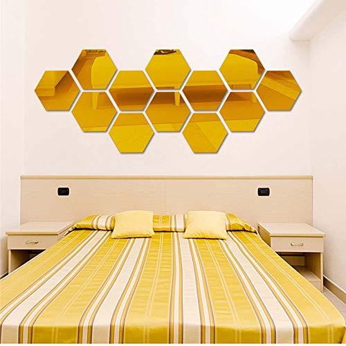 el Stereo Wandaufkleber Wohnzimmer Persönlichkeit dekorative Spiegel Aufkleber,Wandtattoo Wandgemälde Dekor Vinyl Haus Dekoration (4.6 * 4.6cm/12pcs, GD) ()