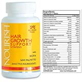 Biotin Hair Growth Vitamins With Powerful DHT Blockers- Guaranteed Results to Reduce Loss