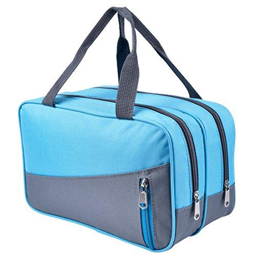 Rophie Kosmetiktasche Reisetasche für Frauen – Makeup Kulturbeutel für Reisen, Fitnessstudio oder zum Schwimmen (blau)