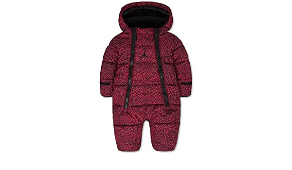 83a54c8154b278 Jordan Baby Boys  or Baby Girls  Hooded Abstract-Print Snowsuit Bunting  (3-6 Months