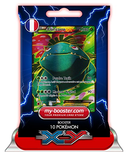 FLORIZARRE EX 141/146 Full Art 180PV XY - Booster optimisé Attaque Eclair de 10 cartes pokemon Francaises