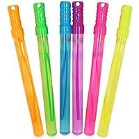 com-four® Varita de Burbuja 6X - Espada de Burbuja - Burbujas Grandes para cumpleaños, Fiestas en el jardín y Bodas - 34 cm (06 Piezas - 34 cm)