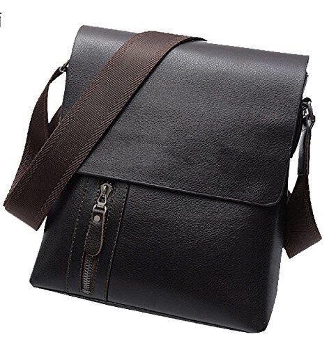 Yy.f Vertikaler Reißverschluss Männer Geschäftsmann Tasche Umhängetasche Solide Tasche Praktische Innen Schwarz Braun Brown