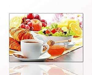 berger designs k chenbild breakfast 40 x 60cm auf leinwand und holzkeilrahmen k che. Black Bedroom Furniture Sets. Home Design Ideas