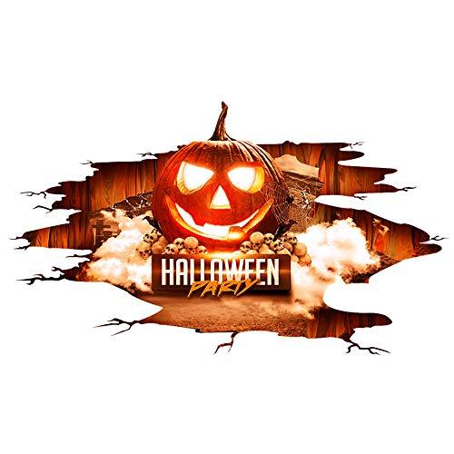 VEMOW Heißer Verkauf Neues Design Happy Halloween Home Party Haushalt Zimmer Wandaufkleber Wandbild Dekor Aufkleber Abnehmbare New Decoation 67x114cm