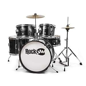 Rockjam Complete 5 Piece Junior Drum Set With Cymbals Drumsticks