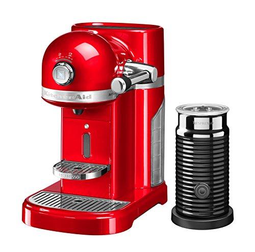 KITCHENAID 5KES0504EER/4 Nespresso, Nespresso, Kapselmaschine mit Aeroccino, Empire Red