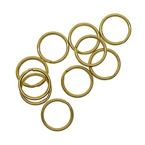 Sharplace 10 Stück Messing Schlüsselanhänger Split Ring Schlüsselanhänger Kette Haken Hardware 20 Mm -