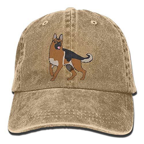 JIEKEIO Funny Baseball Caps Hats Men and Women German Shepherd 1 Vintage Jeans Baseball Cap