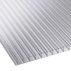 Polycarbonat Universal Stegplatten f/ür Gew/ächsh/äuser klar 1200 x 800 x 4,5 mm