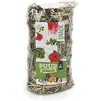 Rollo de heno con flores, 200 g, tratamiento premium, rollo de heno con hibisco y menta