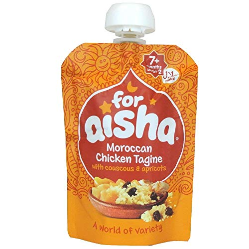 For Aisha - 7+ Months Stage 2 - Moroccan Chicken Tagine with Couscous & Apricots - 130g