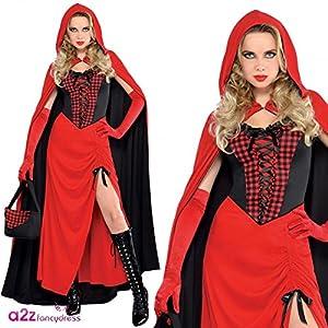 Amscan International - Disfraz con Accesorios Caperucita Roja, Talla UK 8 - 10 (844985-55)