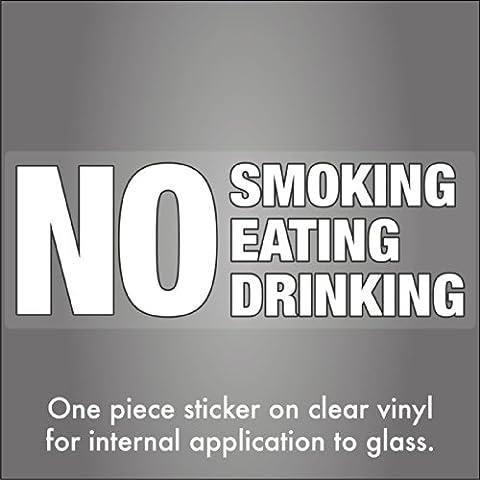 Divieto di fumare, mangiare e bere per finestrino in vetro interno taxi