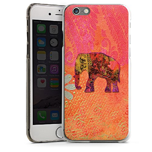 Apple iPhone 4 Housse Étui Silicone Coque Protection Éléphant Goa Indien CasDur transparent