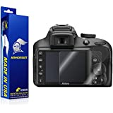 Nikon D3400 Screen Protector, ArmorSuit MilitaryShield - Lifetime Replacements Anti-Bubble Ultra HD Screen Protector for Nikon D3400