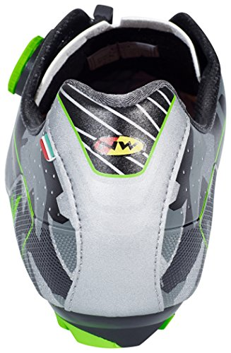 Northwave Extreme XCM MTB Fahrrad Schuhe grau/schwarz/grün 2017 reflective Camo/ green fluo